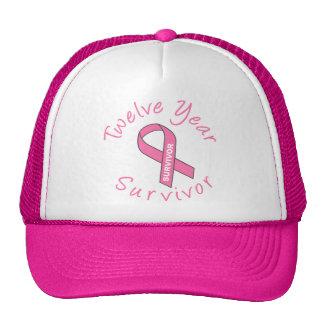 Twelve Year Survivor (Circle Pink Ribbon) Trucker Hat