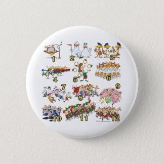 twelves days christmas song cartoon button
