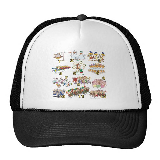 twelves days christmas song cartoon mesh hats
