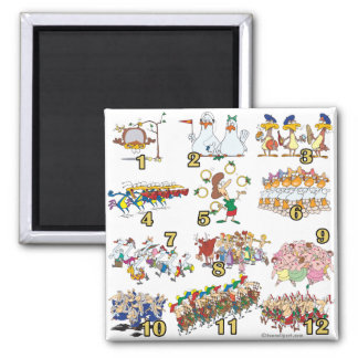 twelves days christmas song cartoon magnet