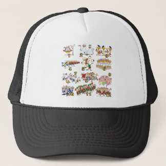 twelves days christmas song cartoon trucker hat