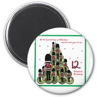 Twelveth Day of Christmas 2 Inch Round Magnet