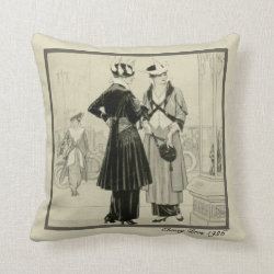 Twenties Glamour Throw Pillow