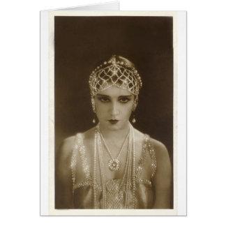 Twenties portrait card