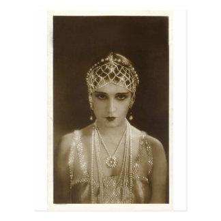 Twenties portrait postcard