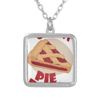 Twentieth February - Cherry Pie Day Silver Plated Necklace