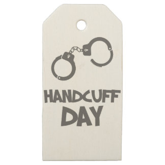 Twentieth February - Handcuff Day Wooden Gift Tags
