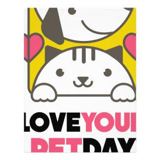 Twentieth February - Love Your Pet Day Letterhead