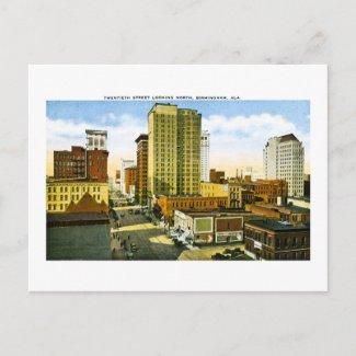 Twentieth Street, Birmingham, Alabama postcard