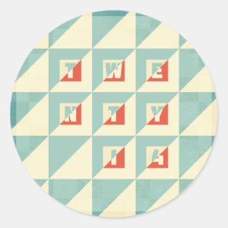 Twenty 14 classic round sticker