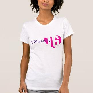 Twenty 16 love pink heart 2016 ladies t-shirt