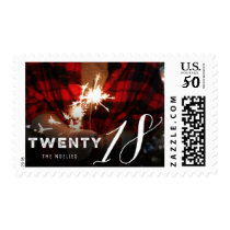 Twenty 18 Typography New Year Holiday Photo Stamps