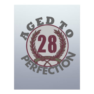 Twenty Eight and aged to Perfection Birthday Flyer