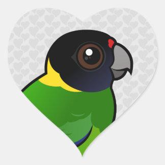 Twenty-eight Parrot Heart Sticker