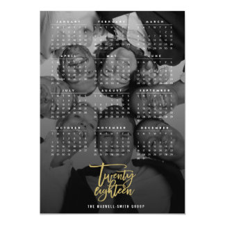 Twenty Eighteen 2018 Calendar Photo Magnetic Card