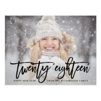 Twenty Eighteen | Trendy Typography with Photo Postcard
