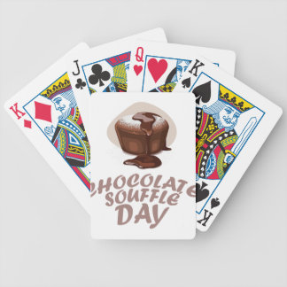 Twenty-eighth February - Chocolate Soufflé Day Bicycle Playing Cards
