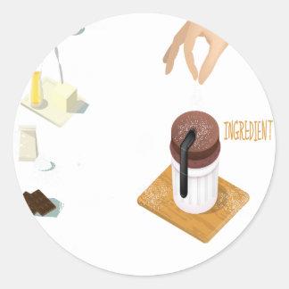 Twenty-eighth February - Chocolate Souffle Day Classic Round Sticker