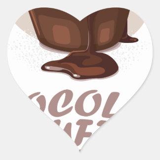 Twenty-eighth February - Chocolate Soufflé Day Heart Sticker