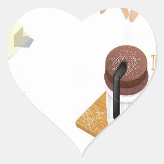 Twenty-eighth February - Chocolate Souffle Day Heart Sticker