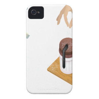 Twenty-eighth February - Chocolate Souffle Day iPhone 4 Case-Mate Case