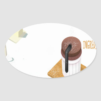Twenty-eighth February - Chocolate Souffle Day Oval Sticker