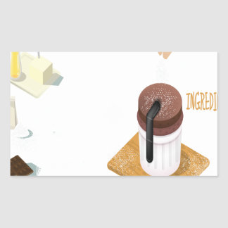 Twenty-eighth February - Chocolate Souffle Day Rectangular Sticker
