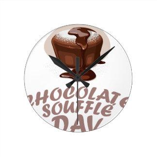 Twenty-eighth February - Chocolate Soufflé Day Round Clock