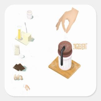 Twenty-eighth February - Chocolate Souffle Day Square Sticker