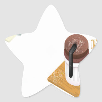 Twenty-eighth February - Chocolate Souffle Day Star Sticker