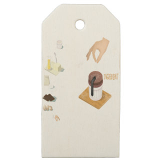 Twenty-eighth February - Chocolate Souffle Day Wooden Gift Tags