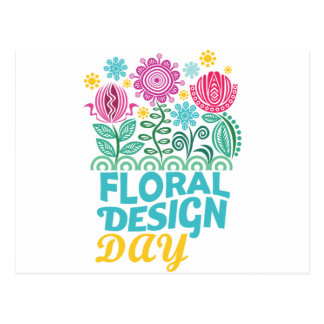 Twenty-eighth February - Floral Design Day Postcard