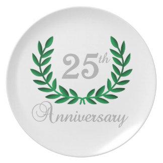 TWENTY FIFTH ANNIVERSARY PARTY PLATE