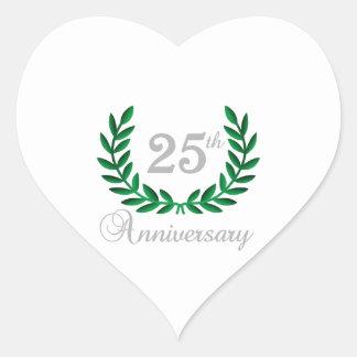 TWENTY FIFTH ANNIVERSARY HEART STICKER