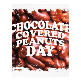 Twenty-fifth Februar Chocolate-Covered Peanuts Day Letterhead