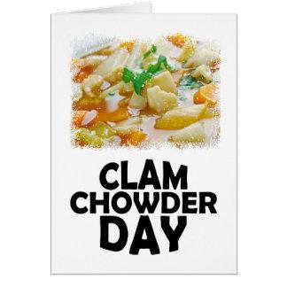 Twenty-fifth February - Clam Chowder Day Card