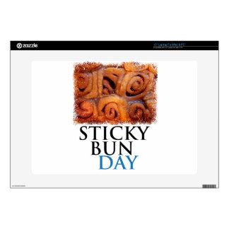 """Twenty-first February - Sticky Bun Day 15"""" Laptop Decal"""