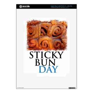 Twenty-first February - Sticky Bun Day Decal For iPad 3