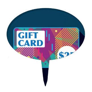Twenty Five dollar gift card Vector Cake Topper