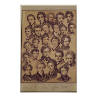 Twenty Five Pupils from the Studio of Antoine Poster
