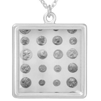 Twenty four coins silver plated necklace
