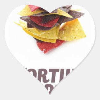 Twenty-fourt February - Tortilla Chip Day Heart Sticker