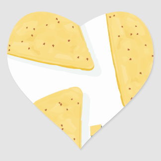 Twenty-fourth February - Tortilla Chip Day Heart Sticker
