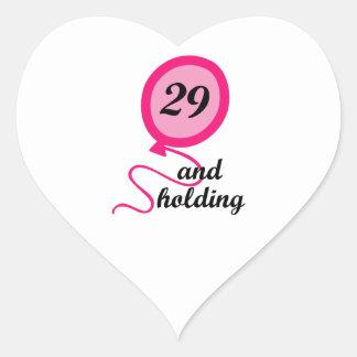 TWENTY NINE AND HOLDING APP HEART STICKER