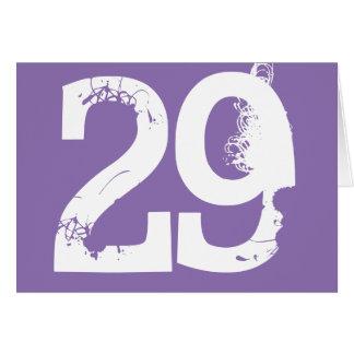 Twenty-nine is a big deal, white text on purple. card
