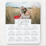 "Twenty Nineteen Script 2019 Photo Calendar Mouse Pad<br><div class=""desc"">Modern and elegant 2019 script photo calendar mousepad.</div>"