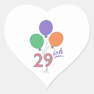 TWENTY NINISH HEART STICKERS