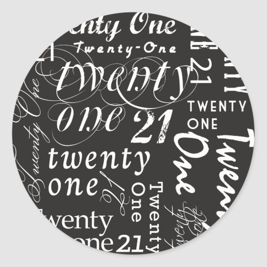Twenty One Classic Round Sticker