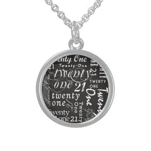 Twenty One Personalized Necklace