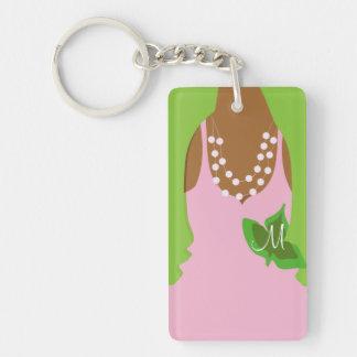 Twenty Pearls Single-Sided Rectangular Acrylic Keychain